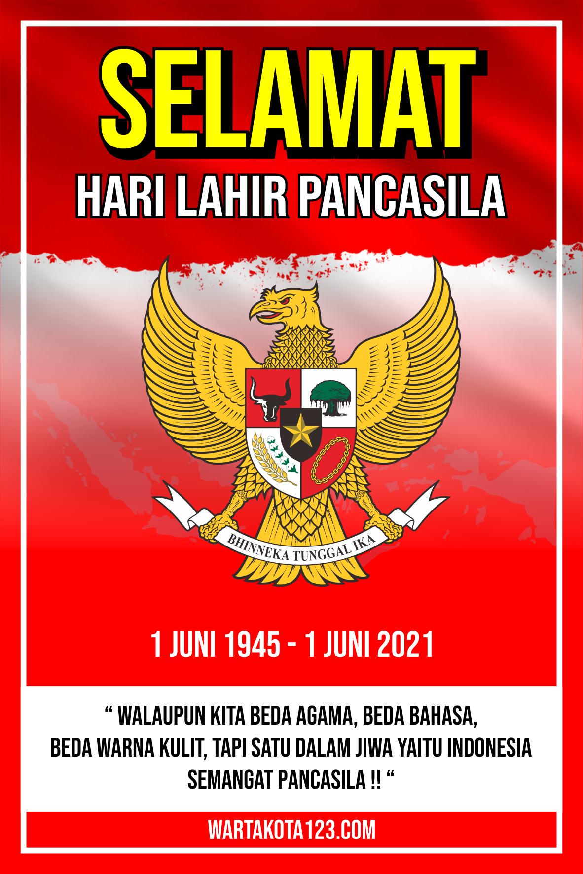 Poster Hari Lahir Pancasila 2021