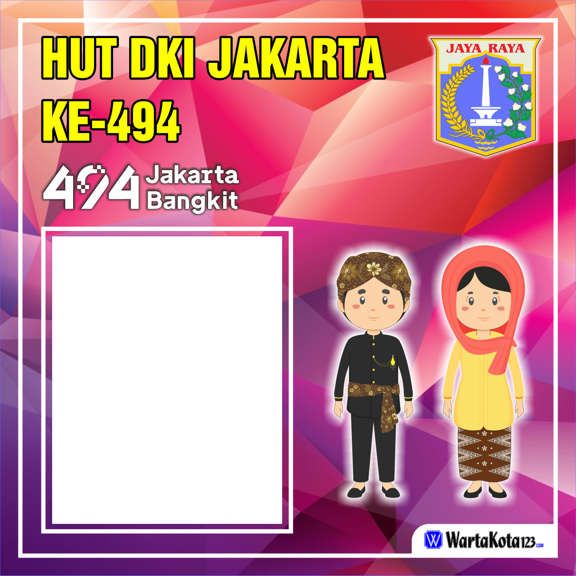 Twibbon HUT DKI Jakarta 494