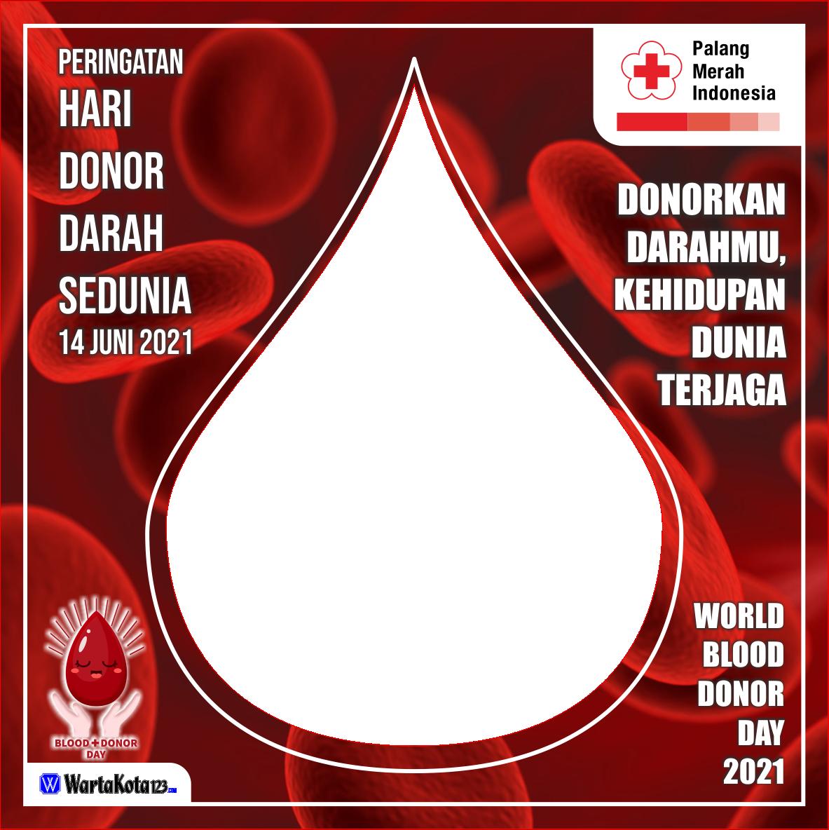 Twibbon Hari Donor Darah Sedunia