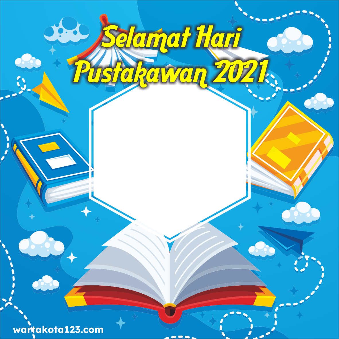 Twibbon Hari Pustakawan Nasional 2021